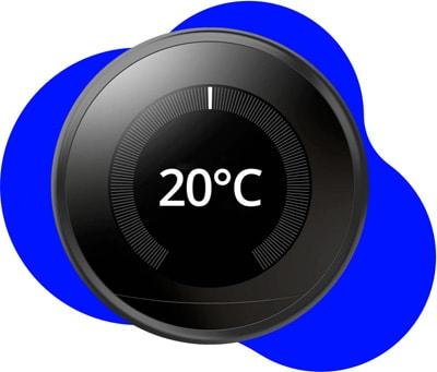 Schwarzer, ferngesteuerter Temperaturregler