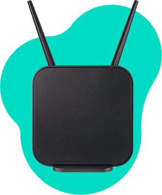 Schwarzer LTE Router