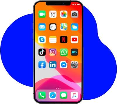 Smartphone mit mobilem Internet
