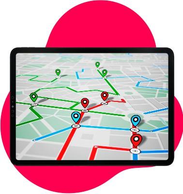 Ipad überwacht per GPS Tracker Geräte