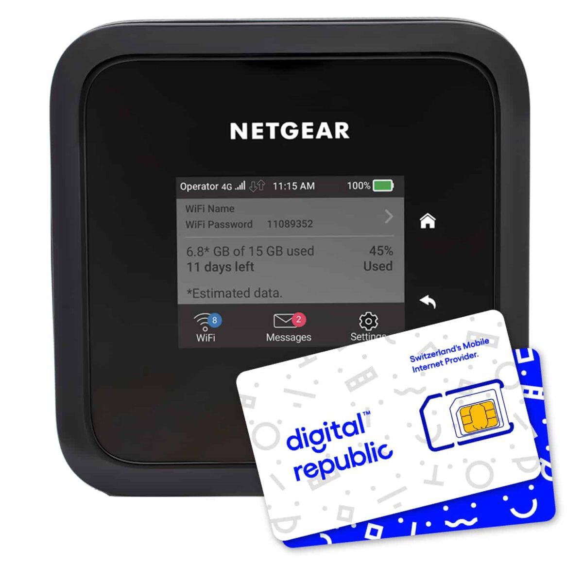 Mobiler Hotspot Nighthawk M5 von Netgear für 5G Internet unterwegs inklusive SIM-Karte von Digital Republic